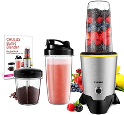 CHULUX Smoothie Bullet Blender Maker with Recipe Book, 1000W High Speed Coffee Grinder with Blending & Grinding Blades , Low Noise, Tritan 32+15 OZ