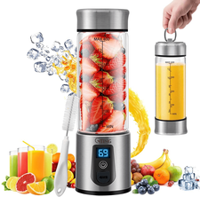 G-TING Personal Smoothies Cordless Blender, Single Serve Mini Blender 450ml USB Rechargeable Small Juice Mixer Portable Juicer, FDA BPA Free