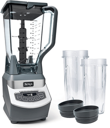 Ninja Professional Countertop Blender (BL660) (1100-Watt) Base, 72-Oz Total Crushing Pitcher and (2x) 16Oz Cups