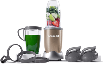 NutriBullet Pro – 13-Piece High-Speed Blender Mixer System with Hardcover Recipe Book Included (900 Watts)