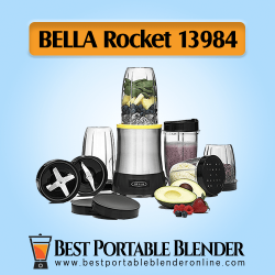 BELLA Rocket (13984) - 15 Piece Power Blender Set [Extract PRO] with fruits ingredients