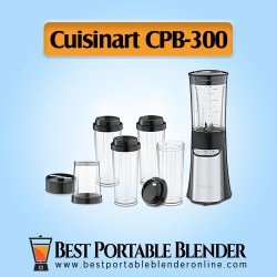 Cuisinart (CPB-300) - [SmartPower Portable Blending & Chopping System] with to-go travel bottles for on-the-go sipping purpose