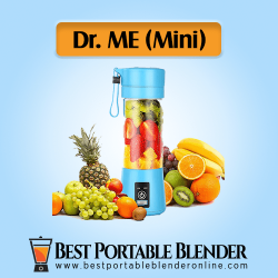 Dr.me Mini Portable Mixer with various fruits ingredients