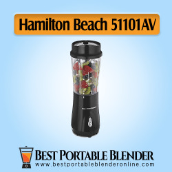 Black Color Hamilton Beach (51101AV) Personal Blender - [Budget-Choice] with fruit ingredients