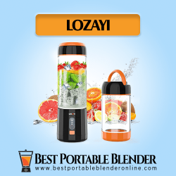 LOZAYI Portable Blender - Cordless Multi-functional Juicer with fruit ingredients