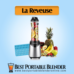 La Reveuse (1802) Personal Blender with fruit ingredients and ice cube tray