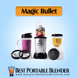 Magic Bullet Bender with portable cups filled with fruits and smoothies