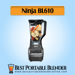 Ninja Professional BL610 Blender stuffed with fruit ingredients