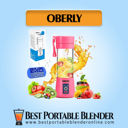 OBERLY Portable Mini Blender with fruits and ice cube tray