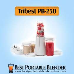 Tribest (PB-250) - Complete Personal [Blender & Grinder Pack] with fruit ingredients and smoothies