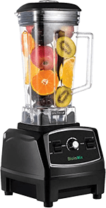 Addwin Countertop Portable Blender for Crushing Ice - Professional Commercial Mixer 70-Oz with 2200 Watt Base & Total Crushing Technology (Black)