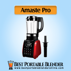 Amaste 1200W Cold and Hot Professional Countertop Blender [Best-Value], with Tamper, 9 Presets Function and Cookbook, Perfect for Smoothies, Soup, Grind, Protein Shakes, Nonstick Glass Jar, Red