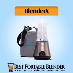 BlenderX CORDLESS Smoothie Blender crushing ice cubes - By Modern Comfort
