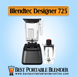 Blendtec Designer 725 - Best Portable Blender for Crushing Ice with Twister Jar [Professional Grade Complete Bundle Set]
