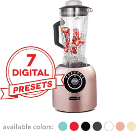 Dash DPB500RS Chef Series Blender with 7 Digital Display for Coffee Drinks, Frozen Cocktails, Smoothies, Soup, Fondue & More, 64 oz, Rose Gold
