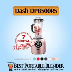 Dash (DPB500RS) Chef Series Blender with 7 Digital Presets for Coffee Drinks, Frozen Cocktails, Smoothies, Soup, Fondue & More, 64-Oz, Rose Gold