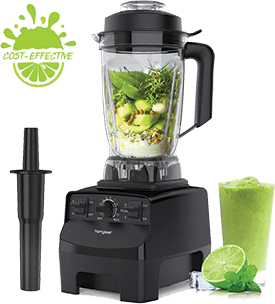 Homgeek Portable Blender for Crushing Ice, 1450W High Speed Professional Countertop Blender with Tamper Built-in Pulse & 10-speeds Control