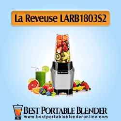 La Reveuse (LARB1803S2) Personal Smoothie Blender stuffed with fruit ingredients - [Countertop Base Edition]