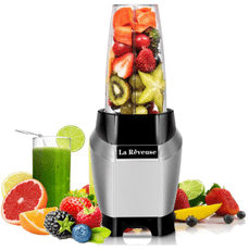 La Reveuse (LARB1803S2) Personal Smoothie Blender stuffed with fruit ingredients - [Countertop Edition]