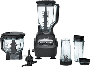 Ninja Mega Kitchen System (BL770) Blender - Food Processor with 1500W Auto-iQ Base, 72oz Pitcher, 64oz Bowl, (2) Nutri Ninja Cups