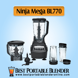Ninja Mega Kitchen System (BL770) Blender - [Ultimate Food Processor] with 1500W Auto-iQ Base, 72oz Pitcher, 64oz Bowl, (2) Nutri Ninja Cups