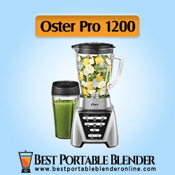 Oster Pro 1200 Best Portable Blender for Crushing Ice with Glass Jar & 24-Oz Smoothie Cup Brushed Nickel [Budget-Choice]