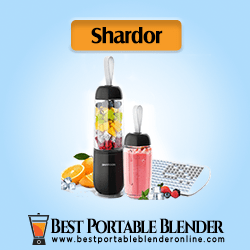Shardor Portable Smoothie Blender (Black Color) - 2 Personal Size Shake Bottles, and an ice cube tray