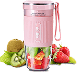 Aeitto Portable Blender for travel, Cordless Personal Juicer, Mini Mixer, Smoothies Maker Bottle With USB Rechargeable, BPA Free, Pink