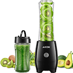 Aicok Personal Blender for Travel and Smoothies with 2 BPA Free Portable Travel Cups with Spout Lids, 300W, for Fruit Vegetables Drinks and Baby Food