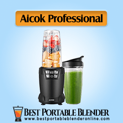 Aicok Travel Blender filled with fruit ingredients – with LED Smart One Touch Functionality