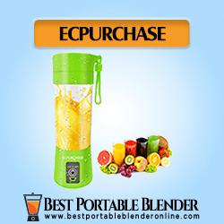 ECPURCHASE Travel Blender with fruits juices- Single-Serve Portable Blender