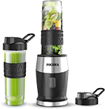Fochea Smoothie Blender for travel, 500W Personal Blender with BPA-Free Sports Bottles (2 x 20-Oz) for Smoothies, Ice and Frozen Fruit