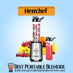 Herrchef Personal Blender for Travel with fruits ingredients and processed smoothie in sports bottle – [Value for Money]