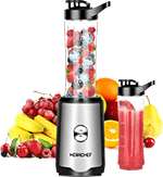 Herrchef Smoothie Blender for Travel, Personal Blender for Shakes with 350W Single Serve Blender for Fruits and Vegetables Drinks with 2 x 20-Oz Tritan BPA-Free Travel Sport Bottles