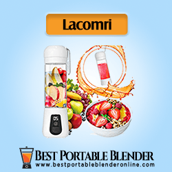 Lacomri Portable Blender for Travel filled with fruits ingredients and smoothies - [Best Overall Blender]