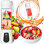 Lacomri Portable Blender for travel– Powerful Crusher for Frozen Fruits and Veggies – Cordless USB Rechargeable – Personal Mini Blender with Stainless-Steel Blades