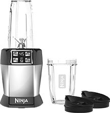 Ninja BL480 Nutri Ninja with 1000 Watt Auto-IQ Base for Juices, Shakes & Smoothies Personal Blender 18 and 24 Oz. BlackSilver