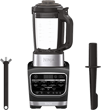 Ninja Foodi (HB152) - Cold & Hot Cook Hot Soups, Sauces and Dips Blender with 1400 Peak Watts to Crush Frozen Drinks & Smoothies Nonstick Glass Pitcher, 64 oz, Black