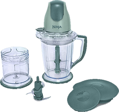 Ninja (QB900B) 400-Watt Blender, Food Processor for Frozen Blending, Chopping and Food Prep with 48-Ounce Pitcher and 16-Ounce Chopper Bowl, Silver