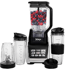 Nutri Ninja (BL642) Personal and Countertop Blender with 1200-Watt Auto-iQ Base, 72-Ounce Pitcher, and 18, 24, and 32-Ounce Cups with Spout Lids
