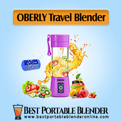 OBERLY Portable Blender for Travel with an ice cube tray - Fruit Mixing Machine [Best-Seller]