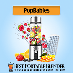 PopBabies Personal Blender for Travel filled with fruit ingredients with an ice cube tray- [USB Rechargeable USB]