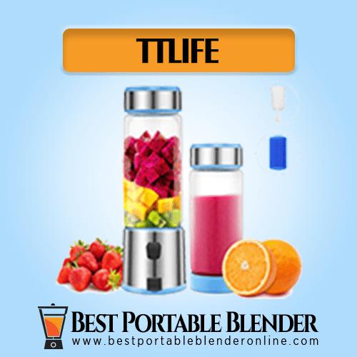 TTLIFE Portable Blender filled with fruit ingredients - with 2 Portable Glass Bottles filled with smoothie [Multi-purpose]