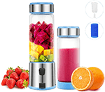 TTLIFE Portable Blender for travel, 2 Cup Cover Personal Juicer with 15-Oz, 5000mAH USB Rechargeable Cordless Smoothie Glass Blender for Gym, Picnic, Office, Home, Kitchen