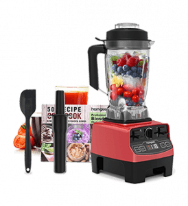 Homgeek High Power Professional Blender, Countertop 1450W, High Power Blender with Built-in Timer, Soup Maker