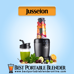 Jusseion Smoothie Blender for Shakes (1200W) - Countertop Bullet Blender