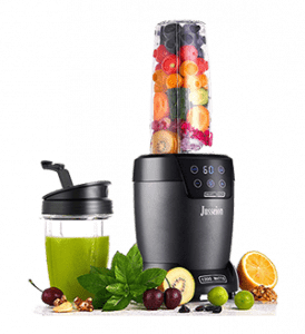 Jusseion Smoothie Blender for Shakes - 1200W- Countertop Bullet Blender