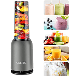Cincred Portable Protein Shake Blender with 400ML travel cup[Updated 2020]
