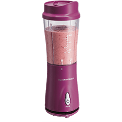 Hamilton Beach (51131) Personal Blender for Shakes and Smoothies with 14oz Travel Cup and Lid, Raspberry