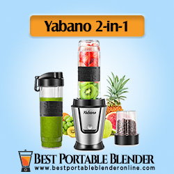 Personal Protein Shakes Blender by Yabano with 2 Travel Bottles and Coffee Grinder